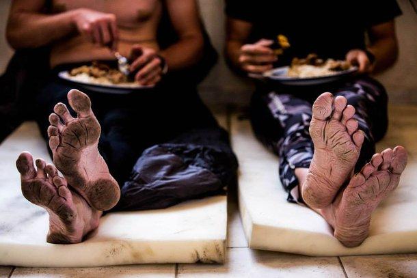 Pokiereszowane stopy Szwedów. ARWV Ekwador 2014.