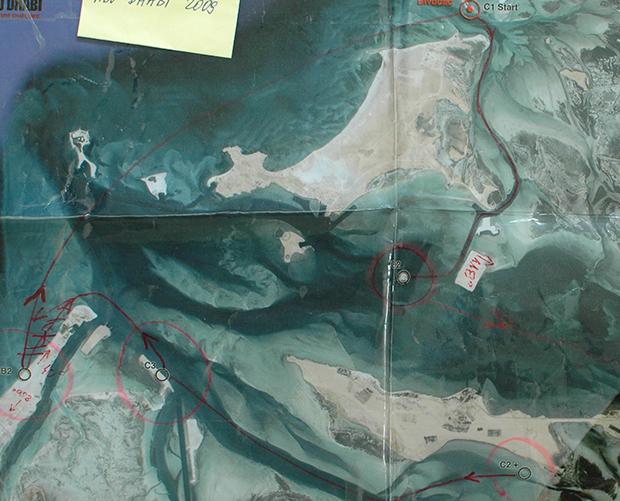 Etap kajakowy - podobnie jak trekking rozgrywany na zrzucie satelitarnym