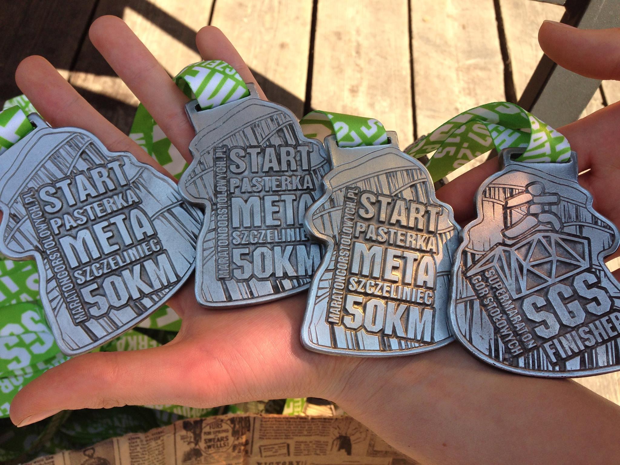 Medale Supermaratonu Gór Stołowych
