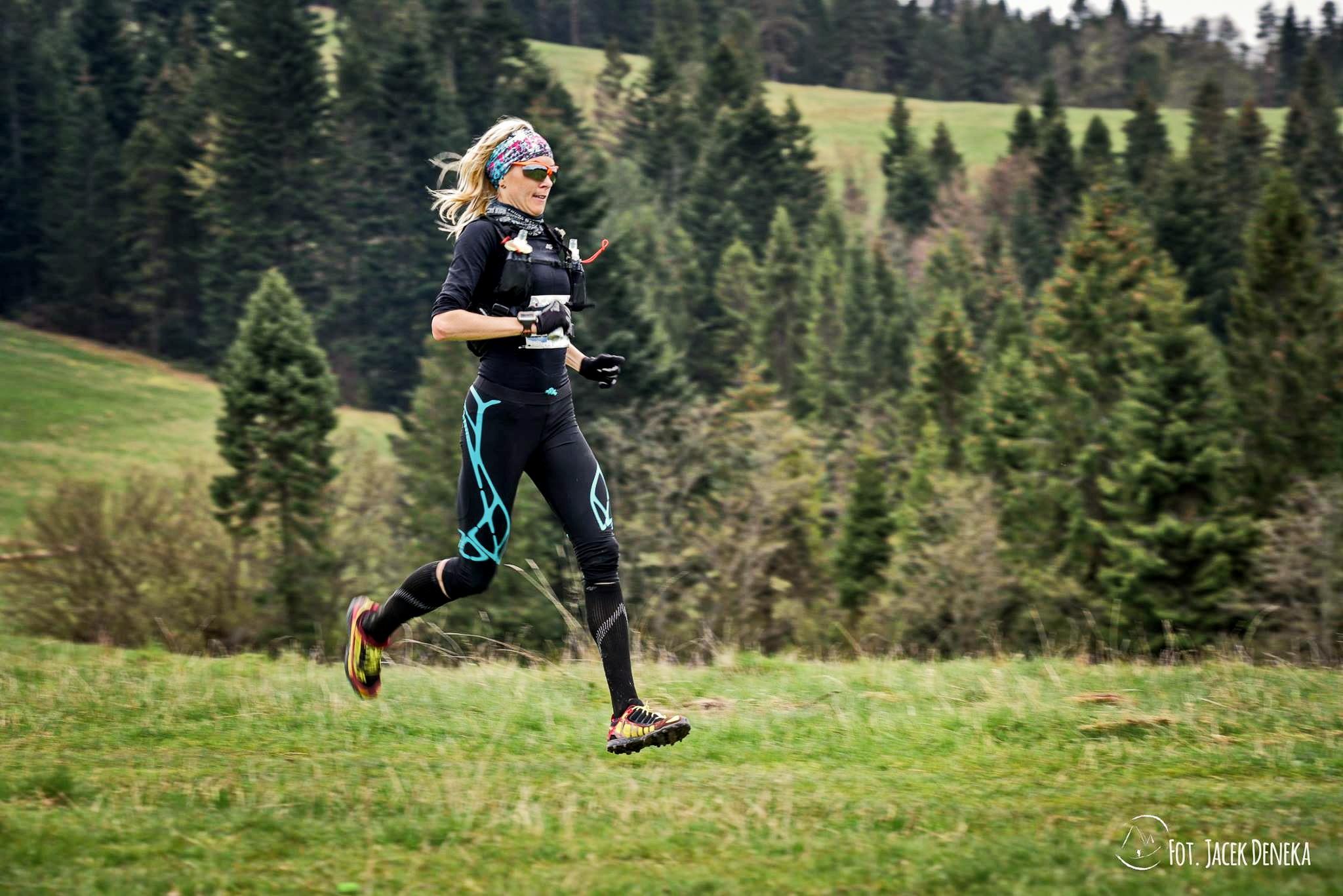 Edyta Lewandowska zwycięża w Mistrzostwach Polski w Maratonie Górskim w Szczawnicy. Fot. Materiały organizatora
