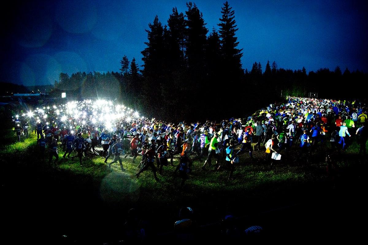 Start sztafety Jukola. Fot. Yle Urheilu