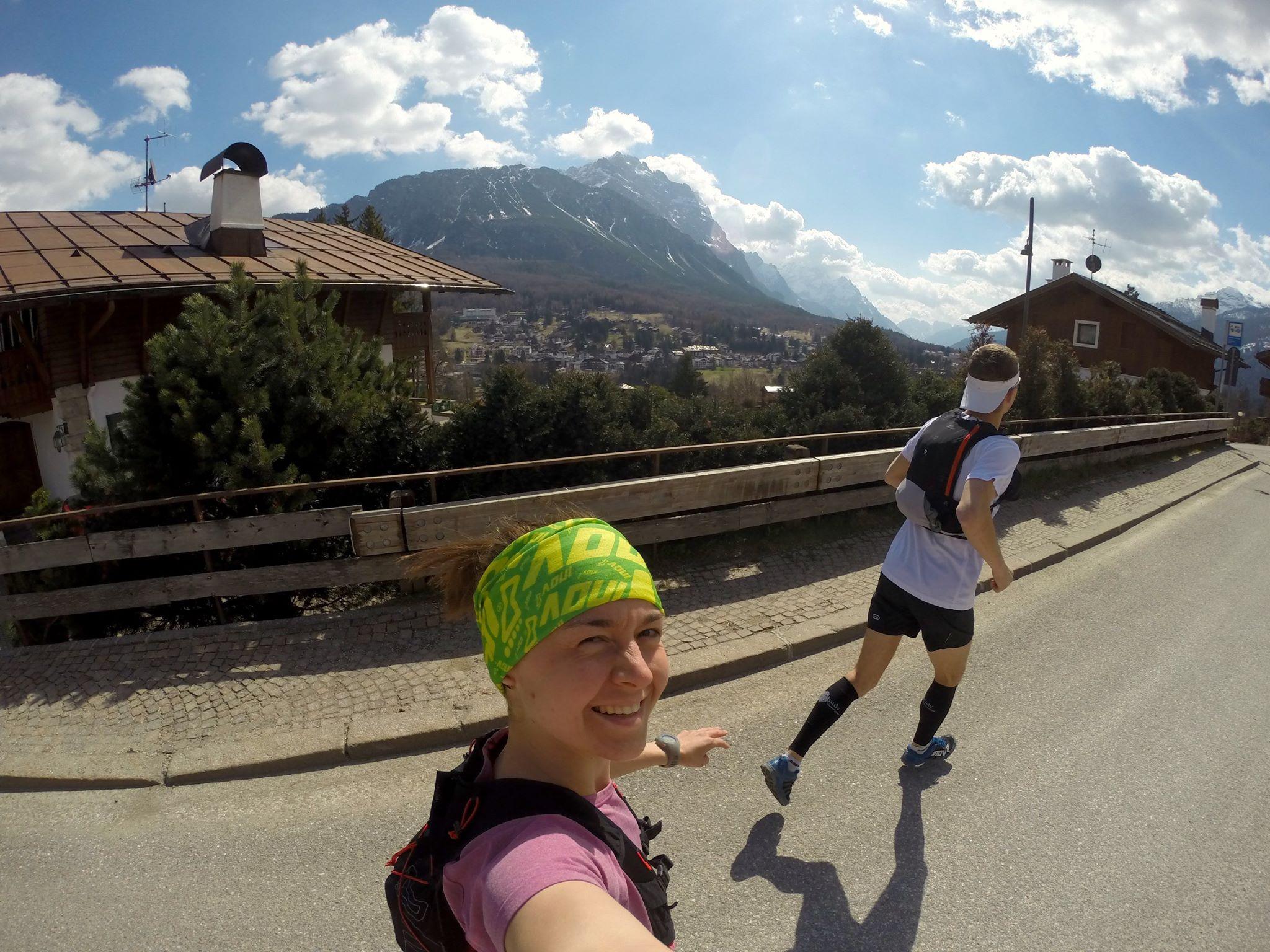 Viola na rekonesansie trasy we Włoszech do Cortina Trail. Fot. Viola Piatrouskaya