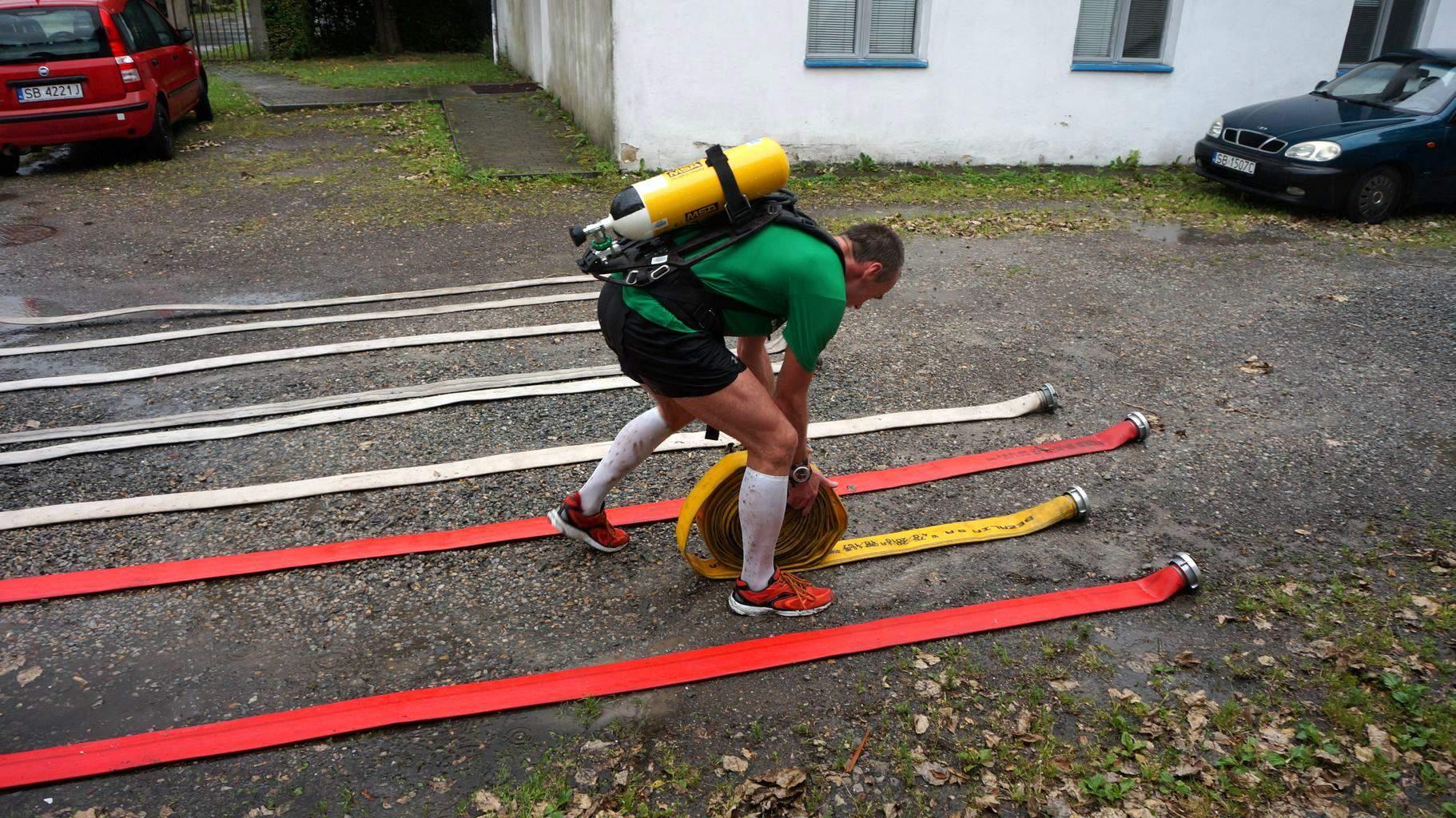 Zadanie strażackie z miejskiego rajdu przygodowego w Bielsku-Białej. Fot. Archiwum autora