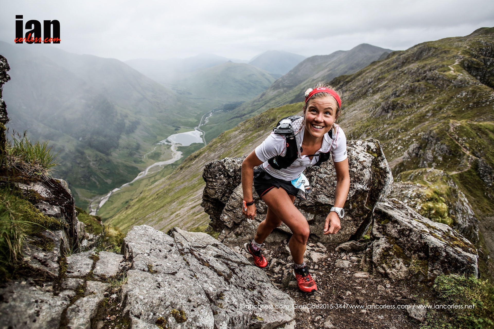 Emelie Forsberg na Salomon Glen Coe Skyline Race 2015. Fot. Ian Coreless