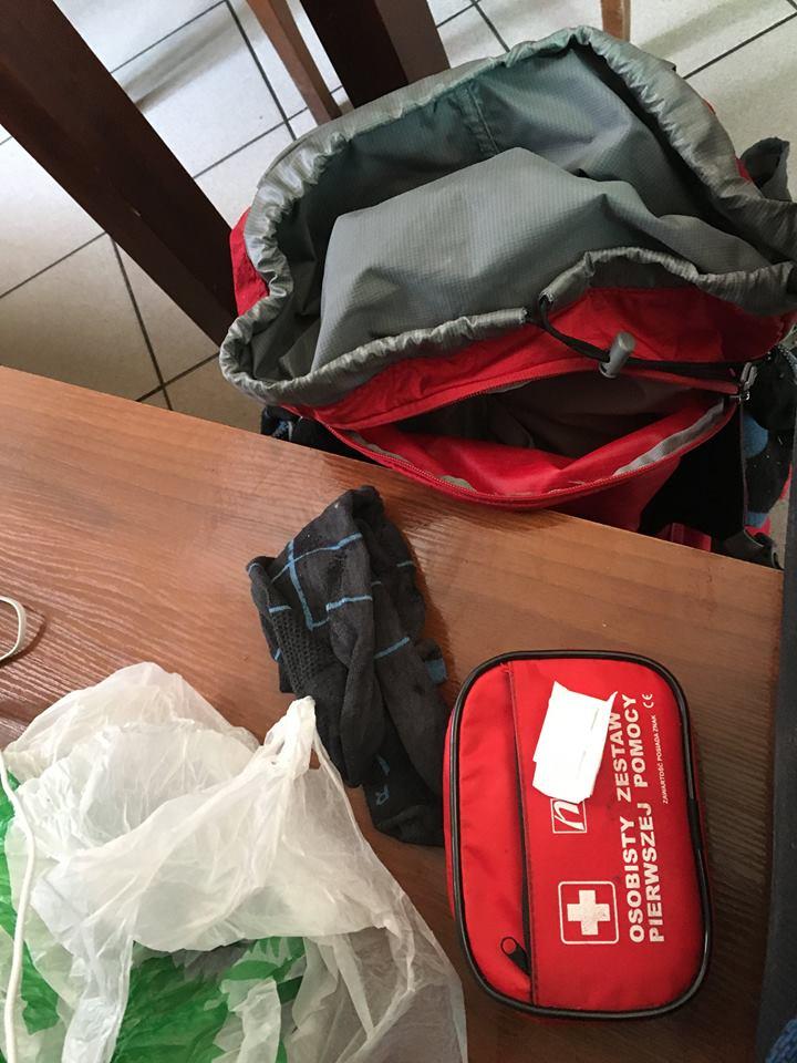 Niebieskie wyzwanie plecak