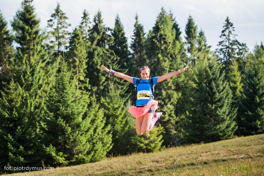 Nie wszyscy cierpią na trasie Biegu 7 Dolin! Fot. Piotr Dymus