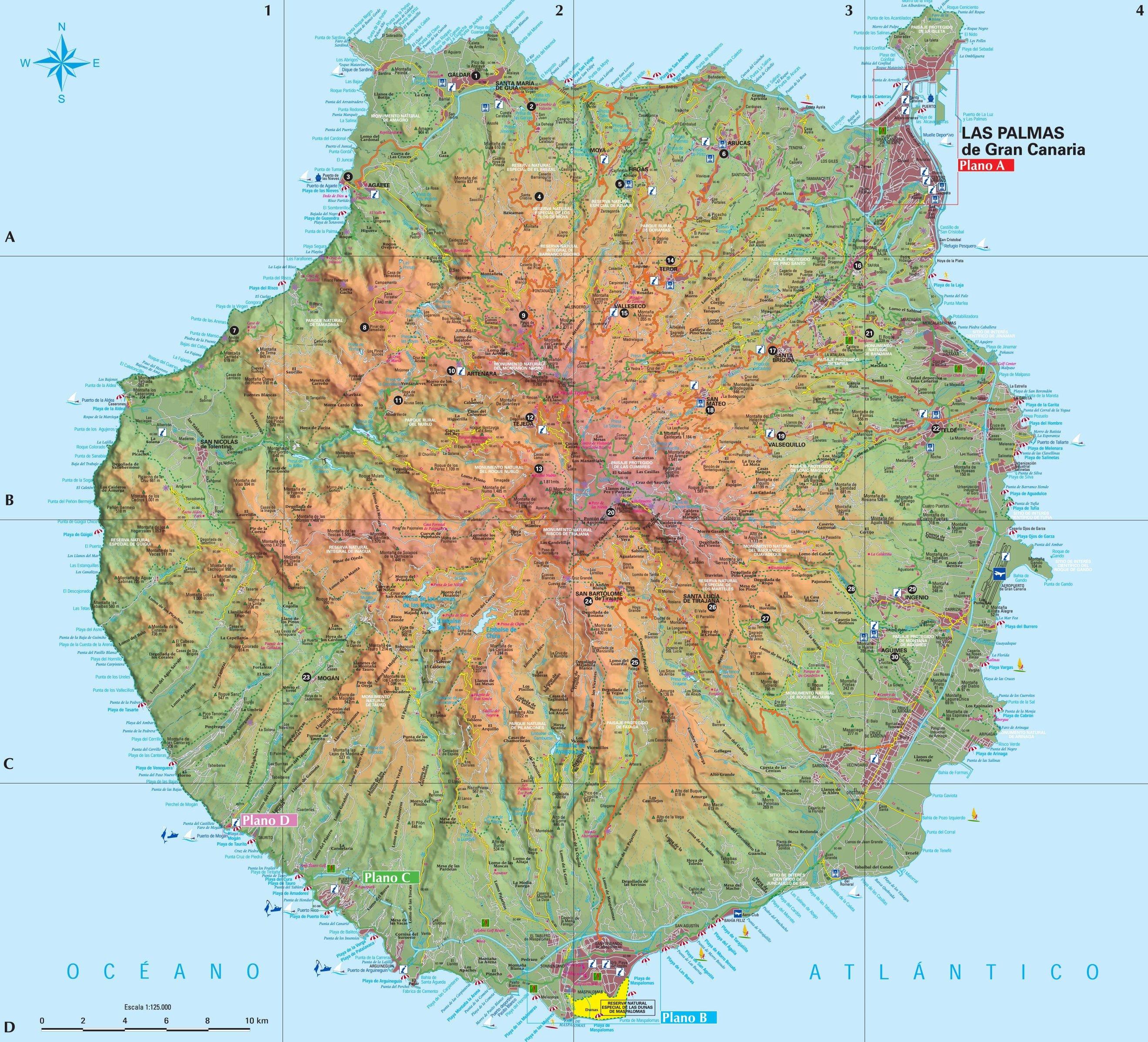 Gran Canaria - mapa.
