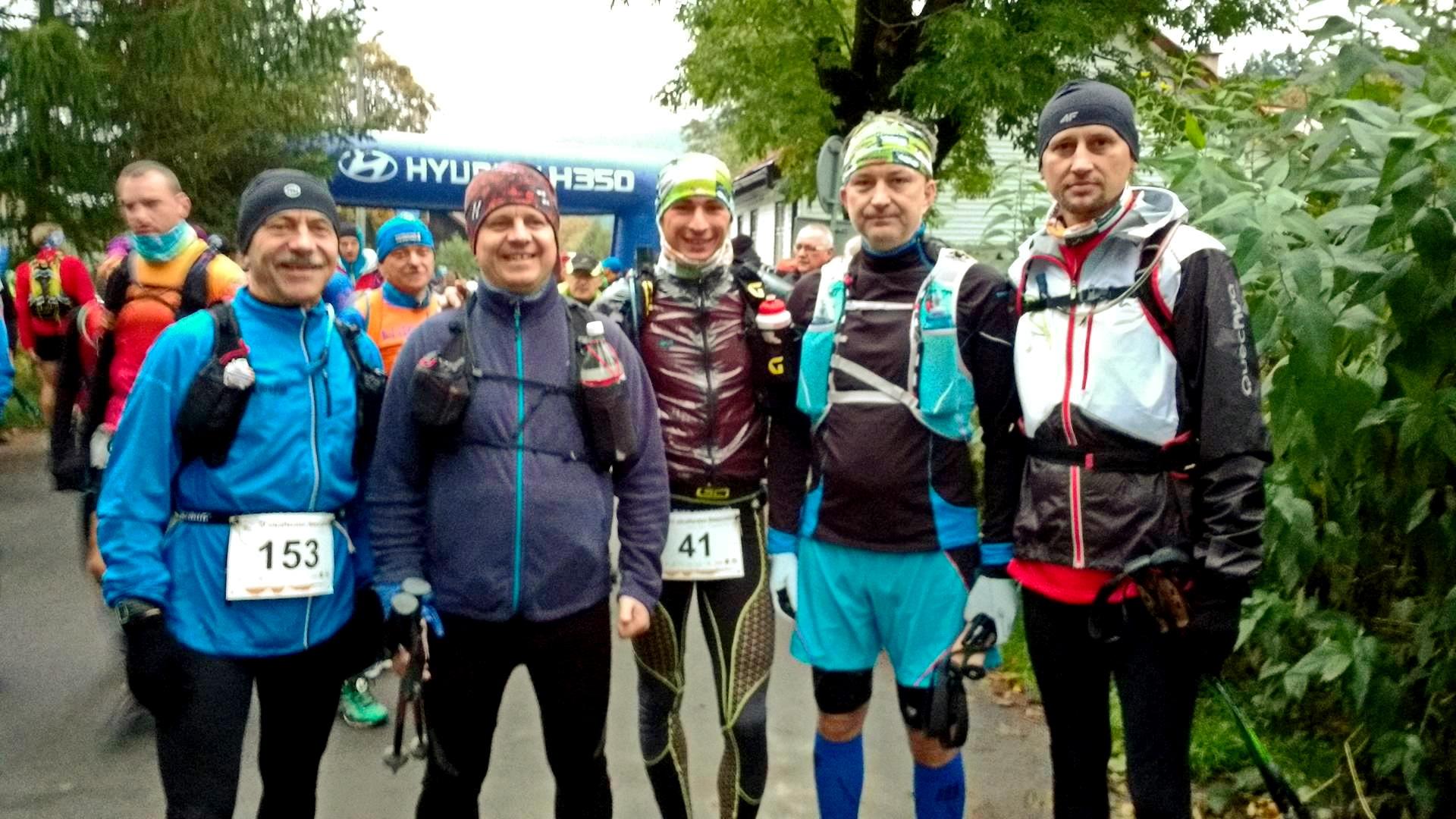 Ekipa przed Ultra Maratonem Bieszczadzkim. Fot. Archiwum autora