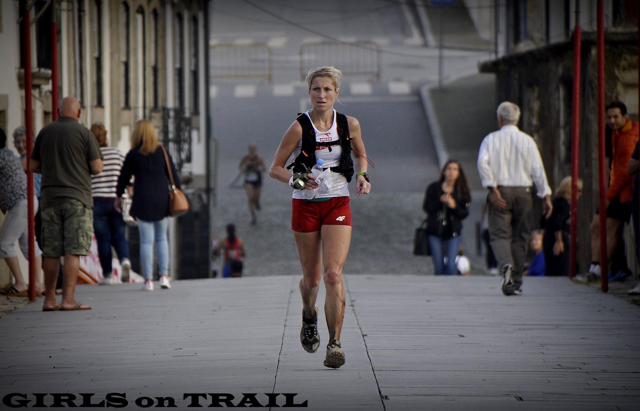 Dominika Stelmach na końcówce trasy. Fot. Girls on Trail