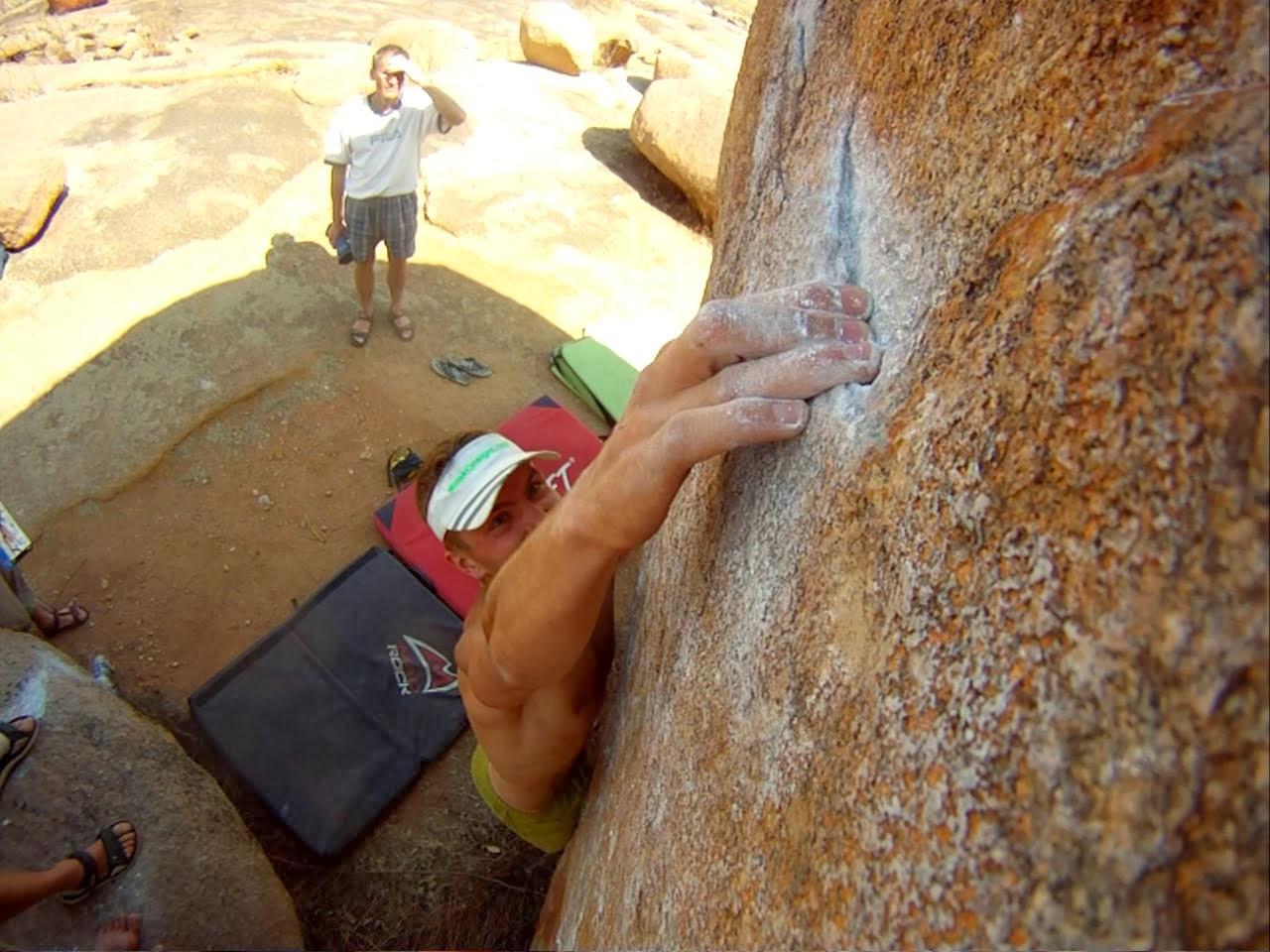 Bouldering w Indiach. Fot. Archiwum Ilyi