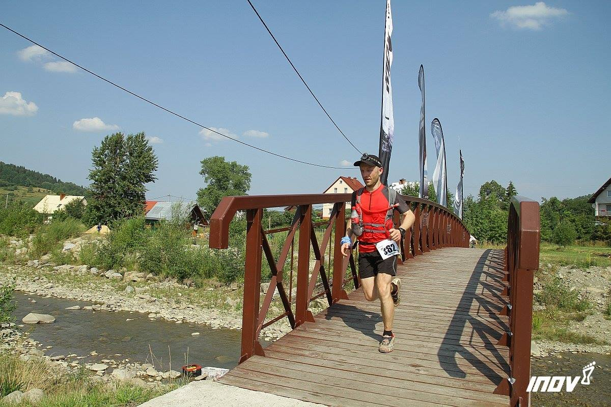 Łukasz Sagan na Chudym Wawrzyńcu. Fot. Fotomaraton.pl